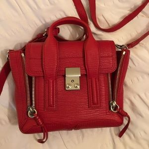 3.1 Phillip Lim Mini Pashli Red w/ Nickel Hardware